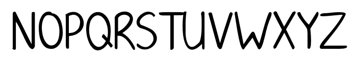 KG June Bug Font UPPERCASE
