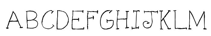 KG KAT'S HANDS Font UPPERCASE