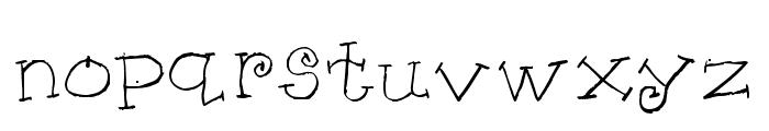 KG KAT'S HANDS Font LOWERCASE