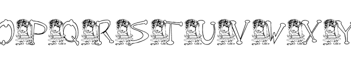 KG MONKEE Font UPPERCASE