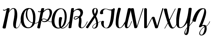 KG Manhattan Script Font UPPERCASE