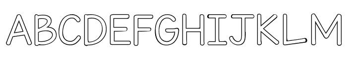 KG Miss Kindy Bubble Font UPPERCASE
