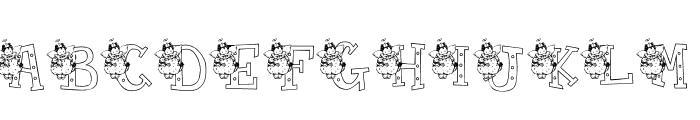 KG NANCY Font UPPERCASE
