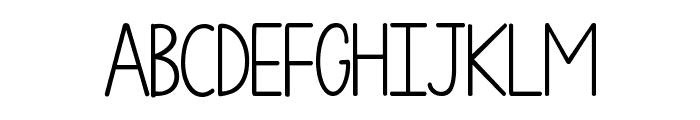 KG One More Night Font UPPERCASE