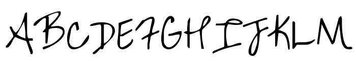 KG Over the Rainbow Font UPPERCASE