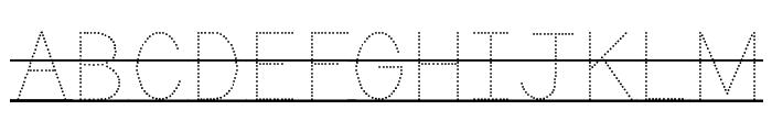 KG Primary Dots Lined Alt Font UPPERCASE