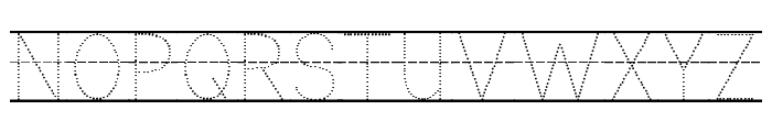 KG Primary Dots Lined Font UPPERCASE
