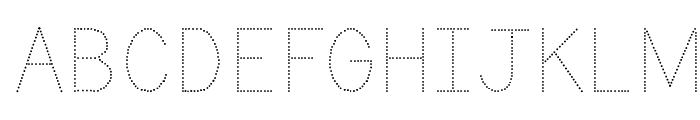 KG Primary Dots Font UPPERCASE