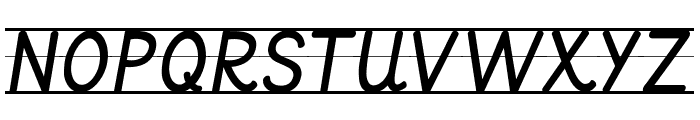 KG Primary Italics Lined Font UPPERCASE