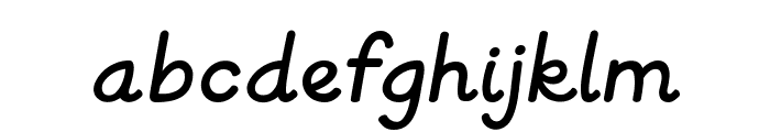 KG Primary Italics Font LOWERCASE