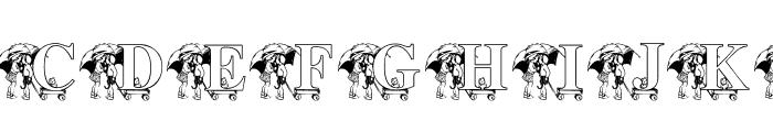 KG RAIN3 Font UPPERCASE