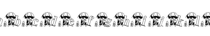 KG RAIN3 Font LOWERCASE