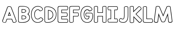 KG Red Hands Outline Font UPPERCASE