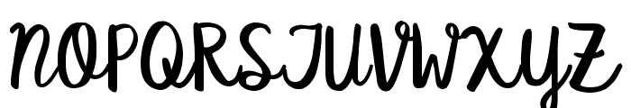 KG Satisfied Script Font UPPERCASE