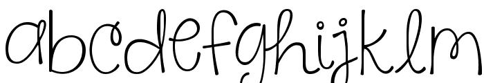 KG Say Something Font LOWERCASE