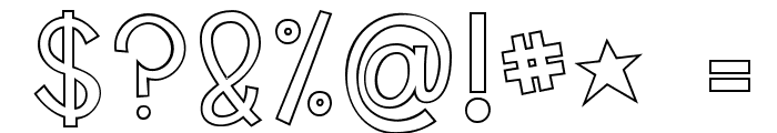 KG Shake it Off Outline Font OTHER CHARS