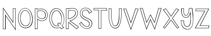 KG Shake it Off Outline Font UPPERCASE
