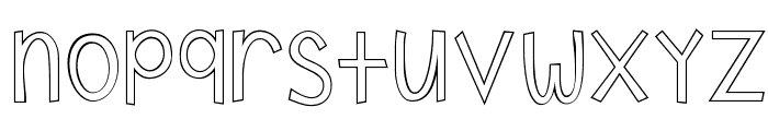 KG Shake it Off Outline Font LOWERCASE