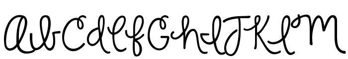 KG Strawberry Limeade Font UPPERCASE