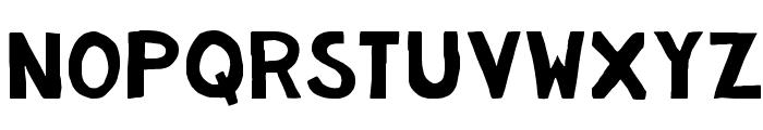 KG Summer Storm Rough Font UPPERCASE