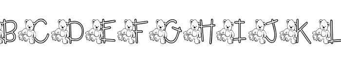 KG TEDDY FRIENDS Font UPPERCASE
