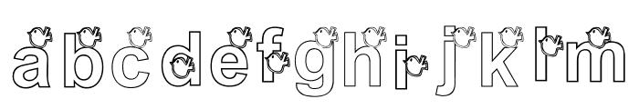 KG WINTERSNO Font LOWERCASE