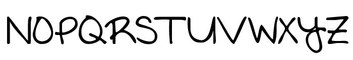 KG Written in the Stars Font UPPERCASE