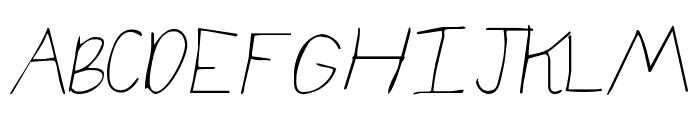 KG elizajane Font UPPERCASE