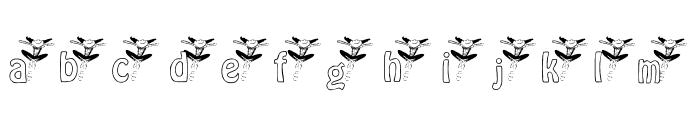 KGBALLET Font LOWERCASE