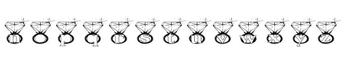 KGDIAMONDS Font LOWERCASE