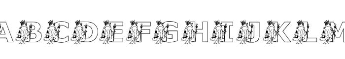KGFROGKING Font UPPERCASE
