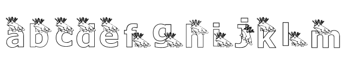 KGFROGKING Font LOWERCASE