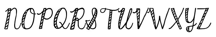 KGHardCandyStriped Font UPPERCASE