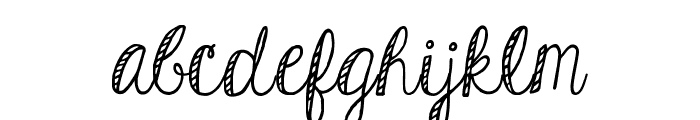 KGHardCandyStriped Font LOWERCASE