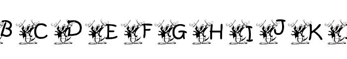 KGMUSIC1 Font UPPERCASE