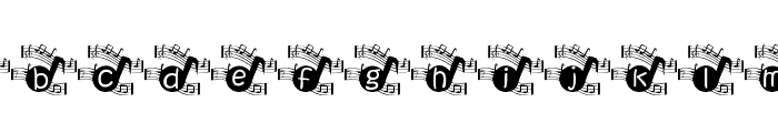 KGMUSIC1 Font LOWERCASE