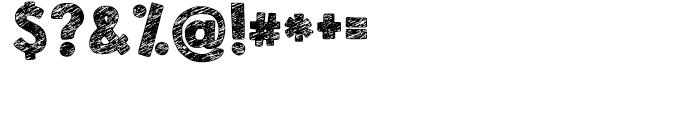 KG Broken Vessels Sketch Regular Font OTHER CHARS