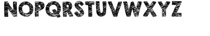 KG Broken Vessels Sketch Regular Font UPPERCASE