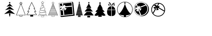 KG Christmas Trees Regular Font UPPERCASE