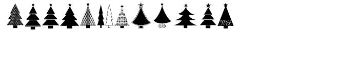 KG Christmas Trees Regular Font LOWERCASE