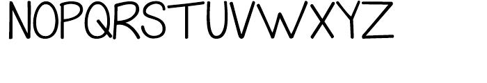 KG Grace For Today Regular Font UPPERCASE