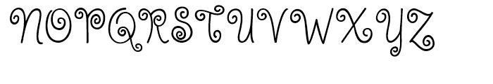KG Kiss Me Slowly Regular Font UPPERCASE
