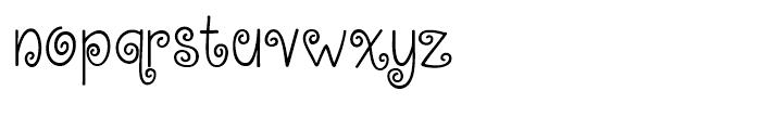 KG Kiss Me Slowly Regular Font LOWERCASE