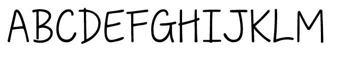 KG Love Somebody Font UPPERCASE