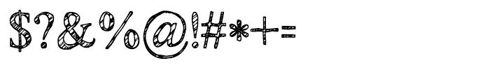 KG No Regrets Sketch Font OTHER CHARS