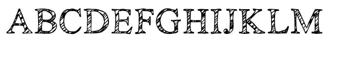 KG No Regrets Sketch Font UPPERCASE