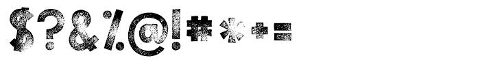 KG TRIBECA STAMP Regular Font OTHER CHARS