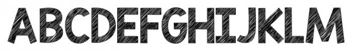 KG Blank Space Sketch Font UPPERCASE