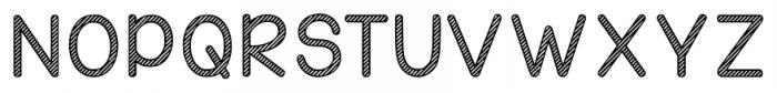 KG Candy Cane Stripe Regular Font UPPERCASE