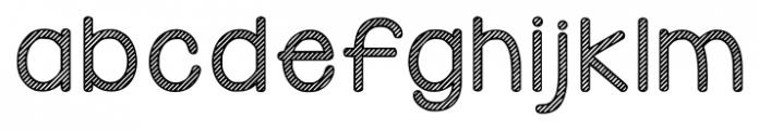 KG Candy Cane Stripe Regular Font LOWERCASE